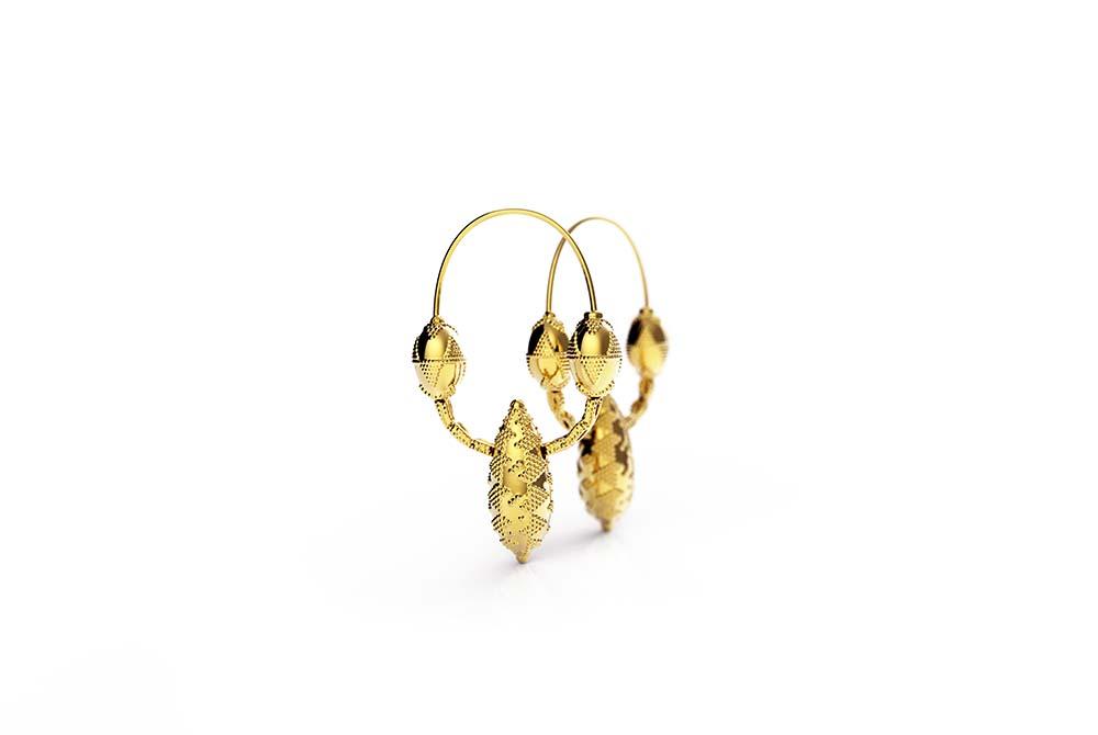 Zlatarne Zaks_Bribirske Kneginje, srebrne nausnice sa zutom pozlatom, s popustom 1308 kn