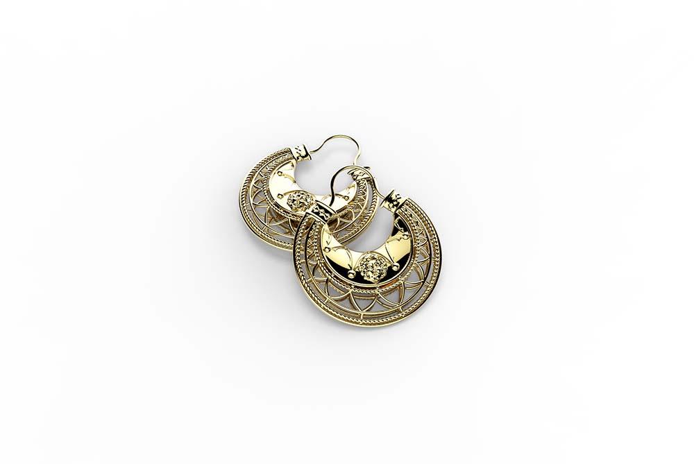 Zlatarne Zaks_Dalmatinke, srebrne nausnice sa zutom pozlatom, 930 kn