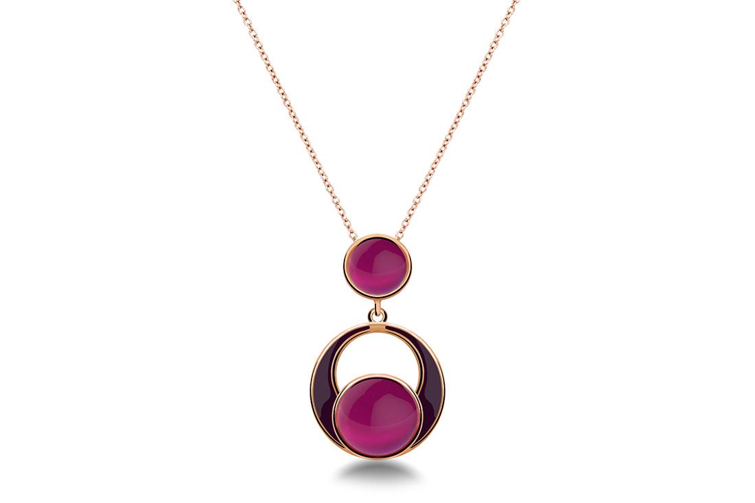 14.Zaks Srebrna ogrlica sa crvenom pozlatom, 330 kn