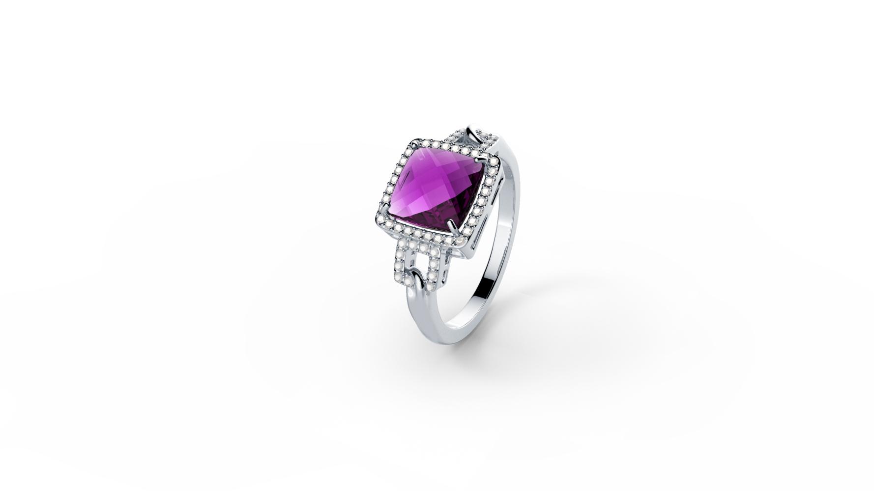 Zlatni prsten s briljantima i ametistom_Zaks_ 7.875,00 kn (2)