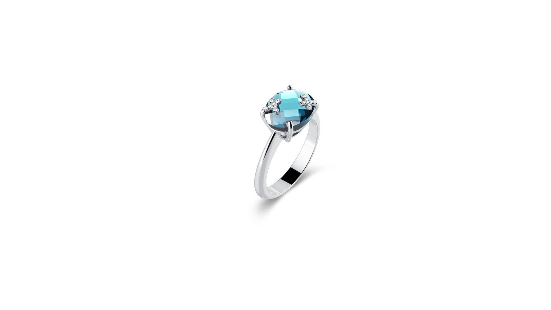 Zlatni prsten s briljantima i topazom_Zaks_ 3.862,50 kn