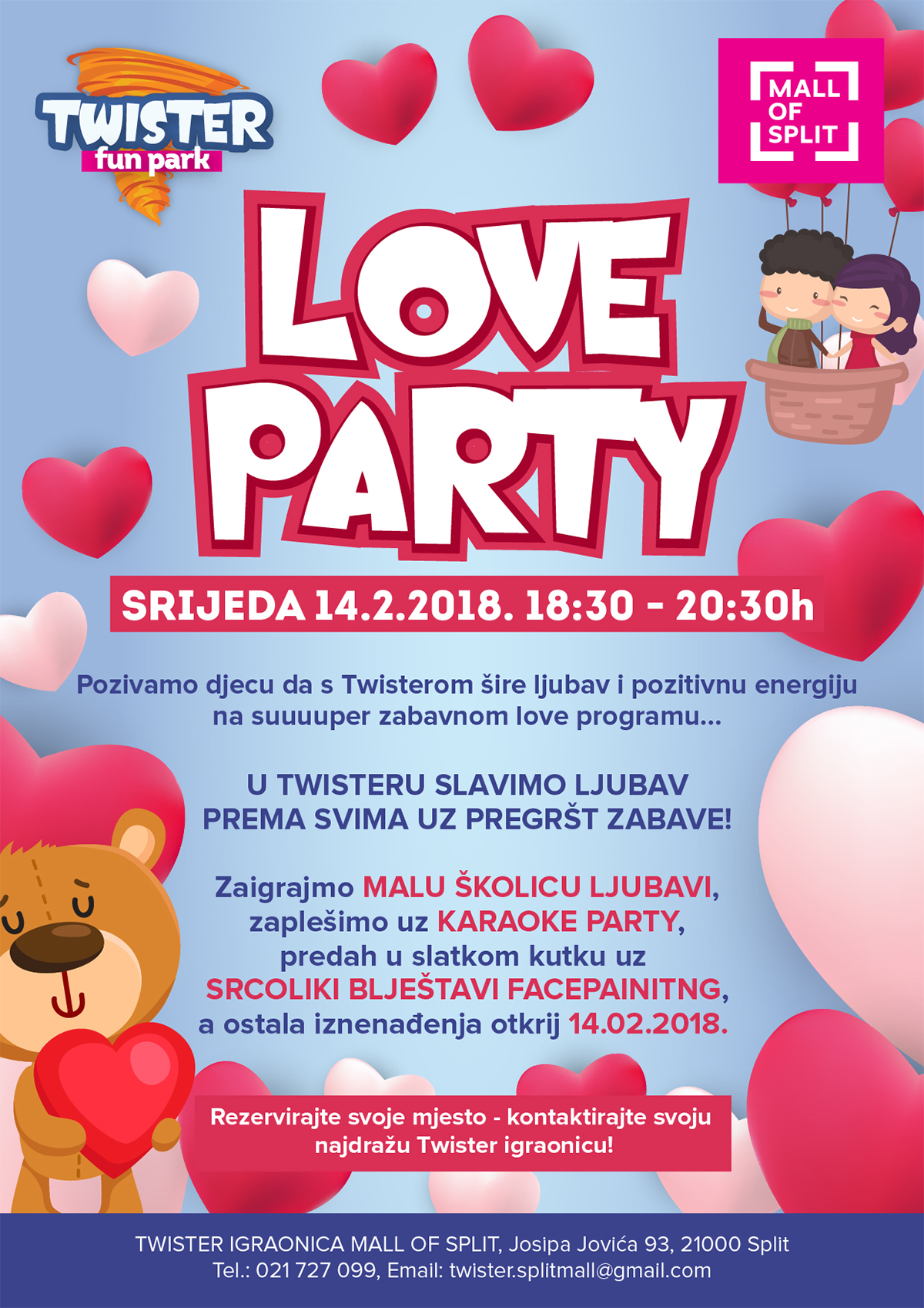 twister love party split djeca zabava dogadanja