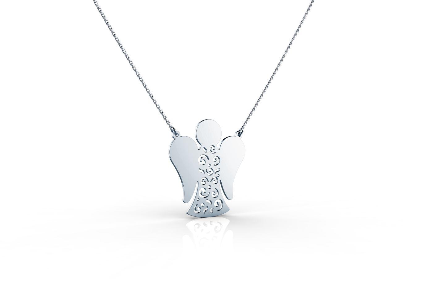 Srebrna ogrlica sa andjelom_ 460kn_ZAKS
