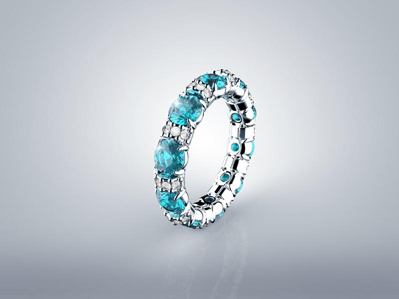 Srebrni prsten sa cirkonima 360 kn, srebrnarnice ARGENTUM