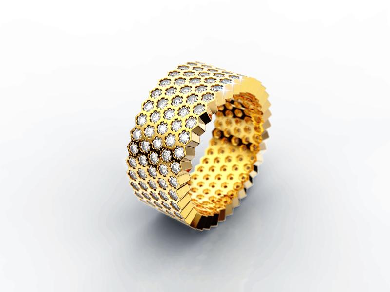 Srebrni prsten sa zutom pozlatom 415 kn, srebrnarnice Argentum