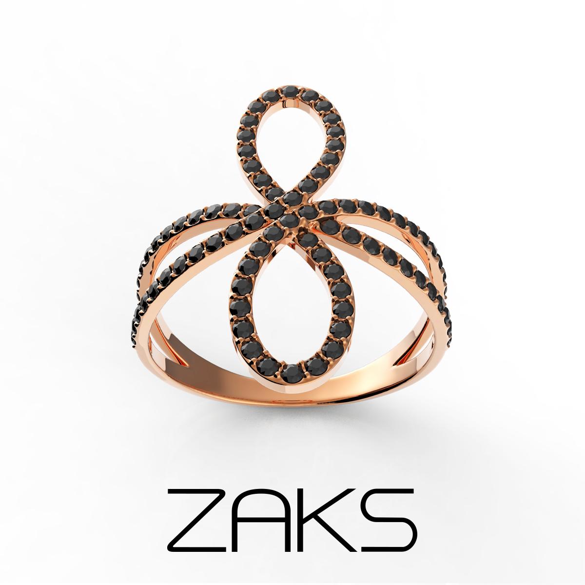 Zaks, srebrni prsten sa crvenom pozlatom i cirkonima, redovna cijena 410kn_snižena cijena 205kn