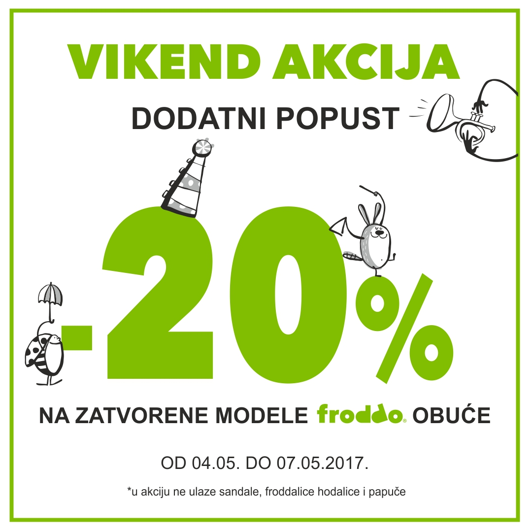 20% dodatnih