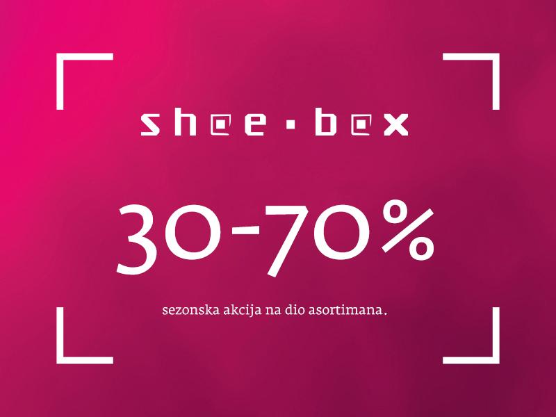 shoebox split akcije snizenja popusti sale