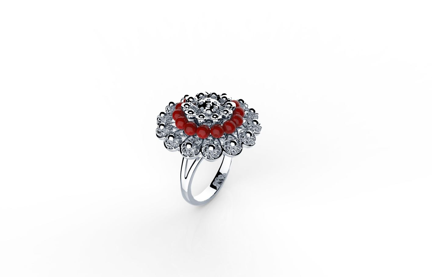 Srebrni prsten s koraljima, redovna cijena 760kn, s popustom 532kn_ARGENTUM