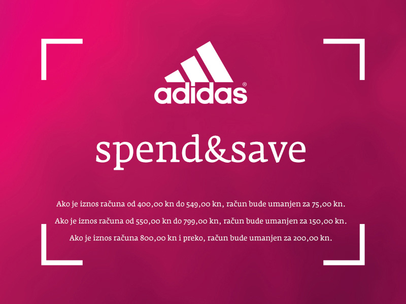 adidas split intro spend and save akcije popusti snizenja