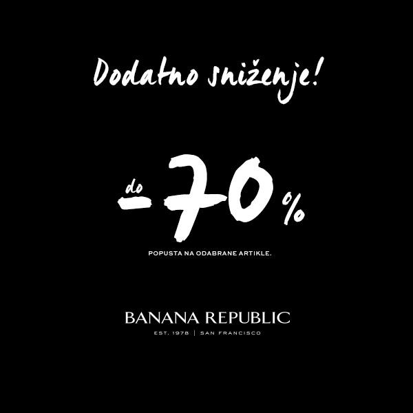 banana republic split akcije popusti snizenja