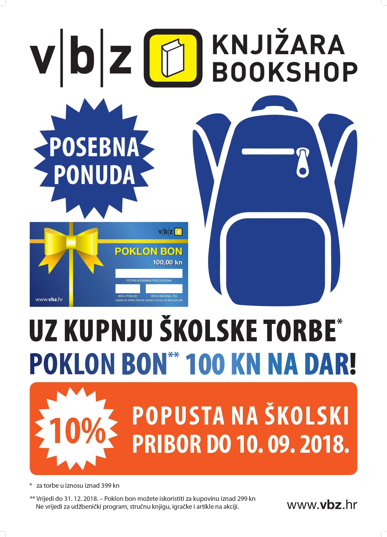 Plakat skolska torba visilice 2018 50×70 cm 30 primjeraka
