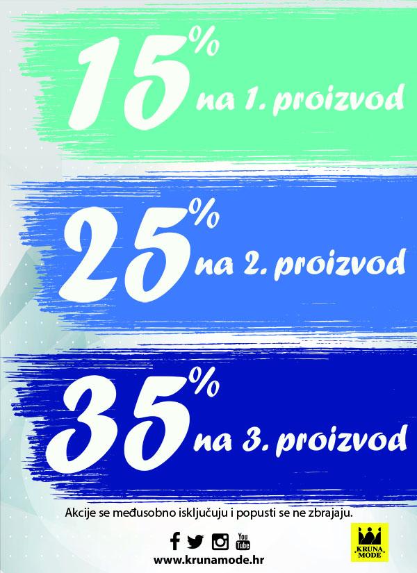 15, 25, 35% AKCIJA