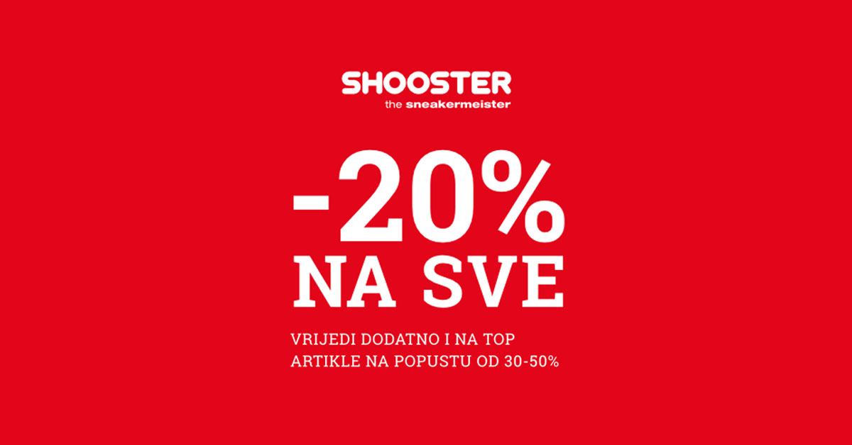 shooster 20 posto na sve 1200