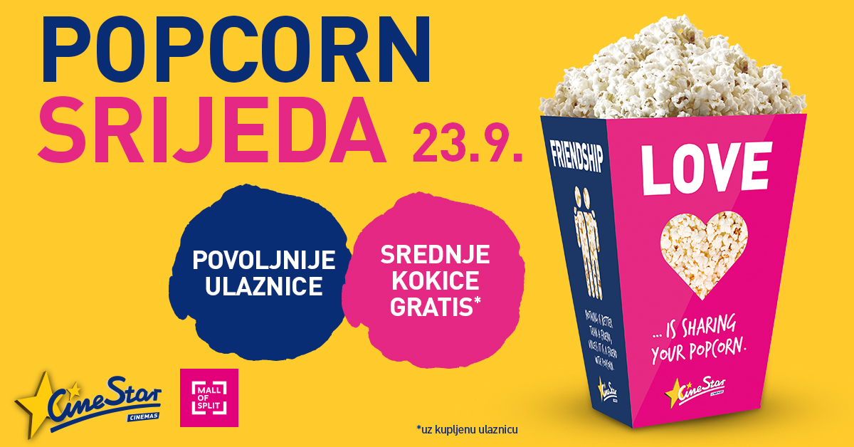 Cinestar - Popcorn srijeda - Mall of Split