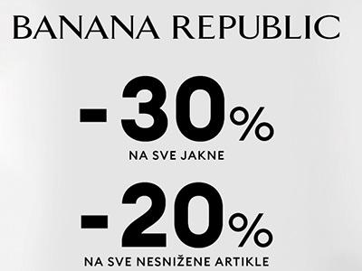 Banana Republic - 30% popusta na jakne