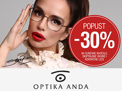 Optika Anda - 30% popust - Mall of Split