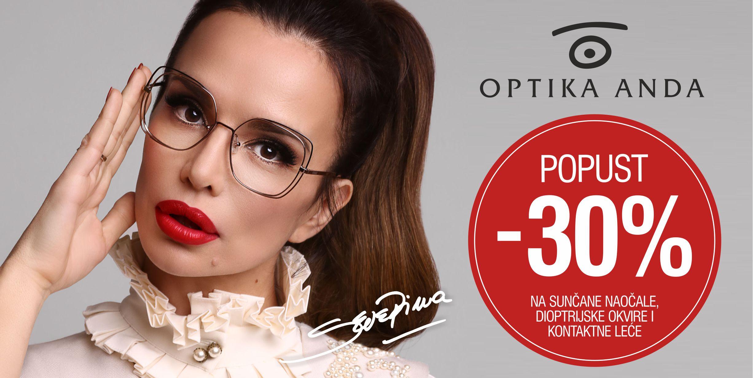 Optika Anda - 30% popust - Mall of Split
