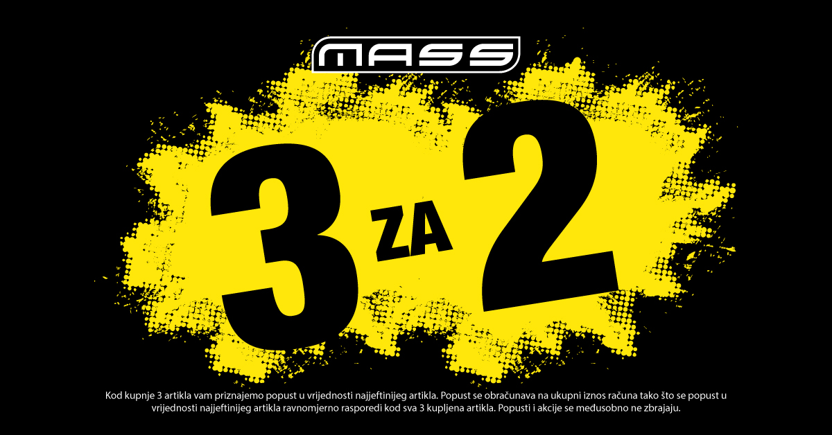 Mass - 3 za 2 - Mall of Split