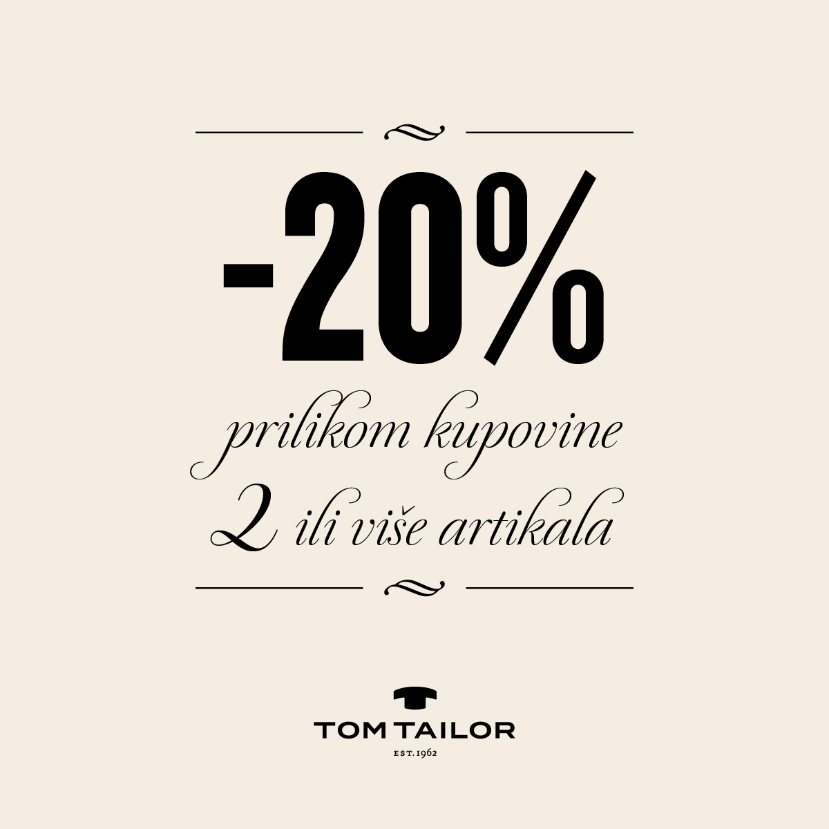 Tom Tailor popust - Mall of Split