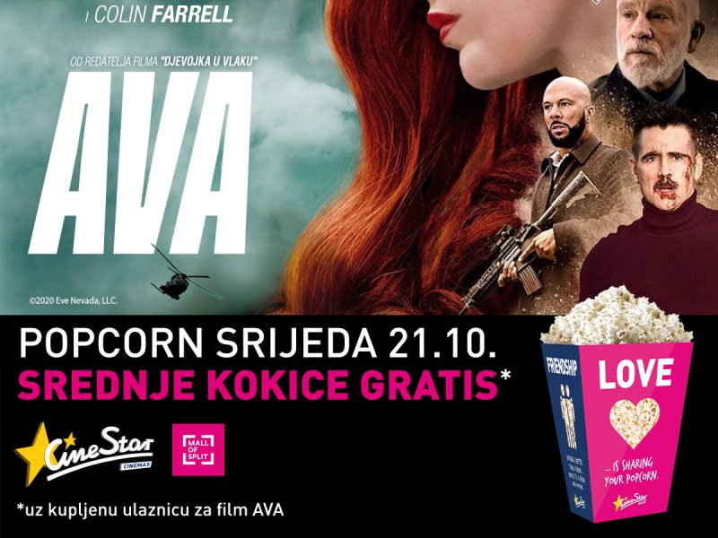 Cinestar - gratis kokice - Mall of Split
