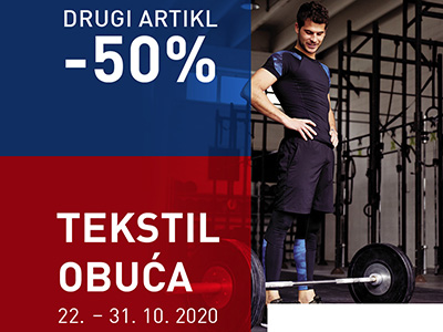 Intersport 50% na drugi artikal - Mall of Split