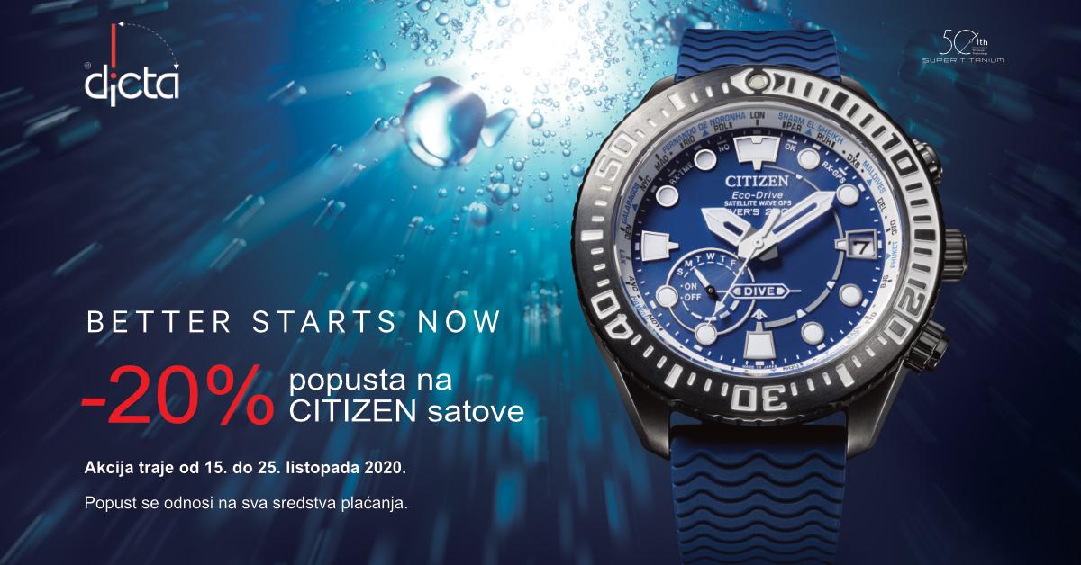 Dicta - popust Citizen satovi - Mall of Split