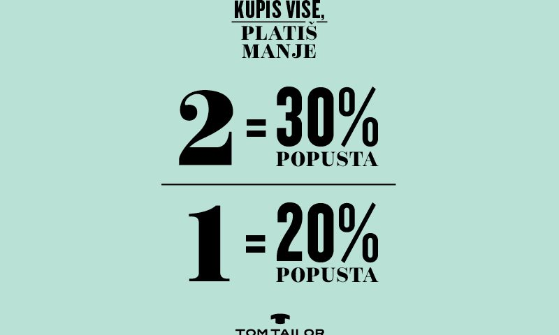 Tom Tailor - akcija - Mall of Split